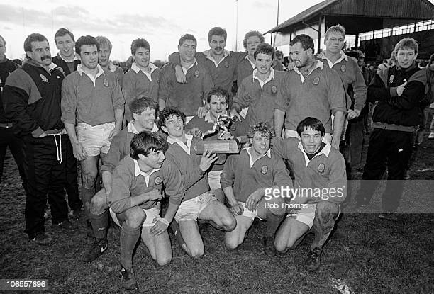 The North Division team with the trophy after victory in the London Division v North Division Thorn EMI Divisional Championship Rugby Union match...