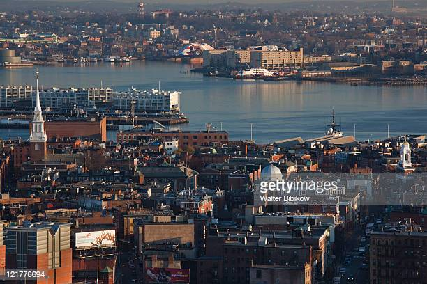 The North End, LIttle Italy and Old North Church, Boston, Massachusetts, USA