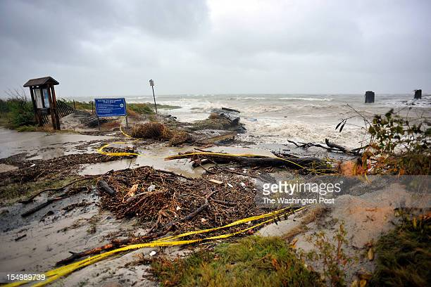 The north end of Cape Charles beach along the Chesapeake Bay was damaged by the storm surge created by hurricane Sandy