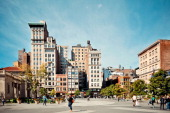 CONTENT] The north end of Union Square and 17th Street on a sunny afternoon