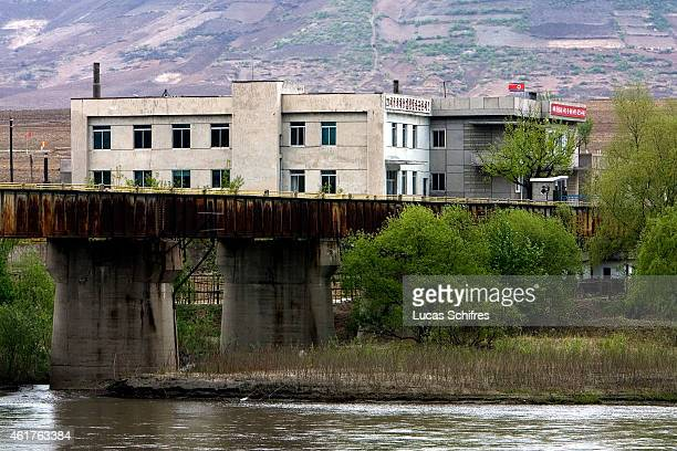 The North Korean border post on the ChineseNorth Korean border as seen from Kaishantun on May 10 2009 in Jilin province China On May 25 Little is...