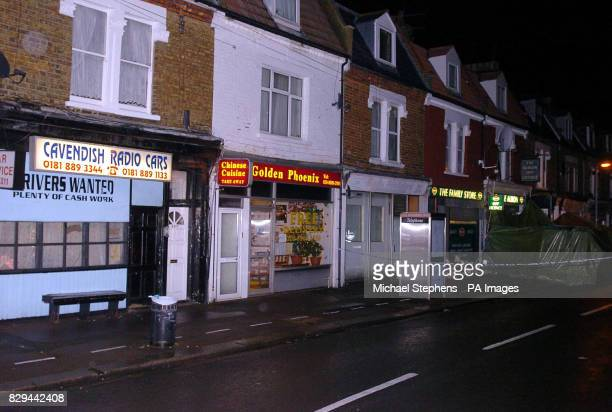 The North London grocery store in Whittington Road Wood Green where the shopkeeper Mahmut Fahri was stabbed and died later after he tried to chase...