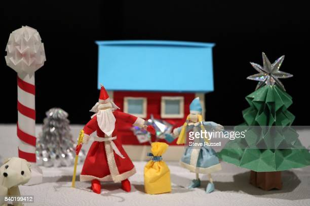 TORONTO ON AUGUST 24 The North Pole in origami with Santa Claus Massive Canada 150themed origami diorama at the CNE It's more than 30 metres long and...