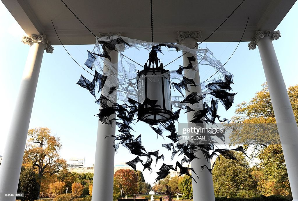 White House Decorated For Halloween Part - 30: The North Portico Is Decorated For Halloween Where Tonight The President  And First Lady Will Be
