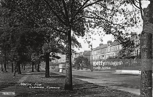 The north side of Clapham Common in London circa 1930
