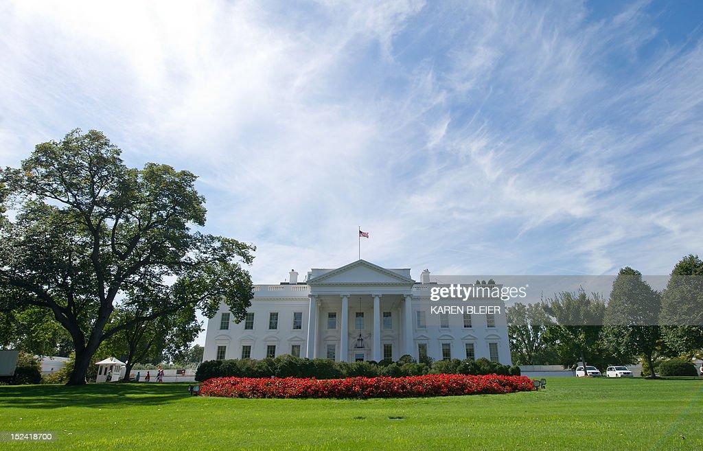 The north side of the White House is seen September 20, 2012 in Washington, DC. AFP PHOTO / Karen BLEIER