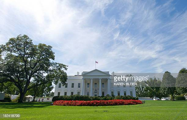 The north side of the White House is seen September 20 2012 in Washington DC AFP PHOTO / Karen BLEIER