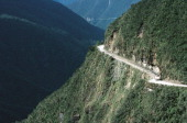 The North Yungas Road leading from La Paz to Coroico Yungas Region Bolivia