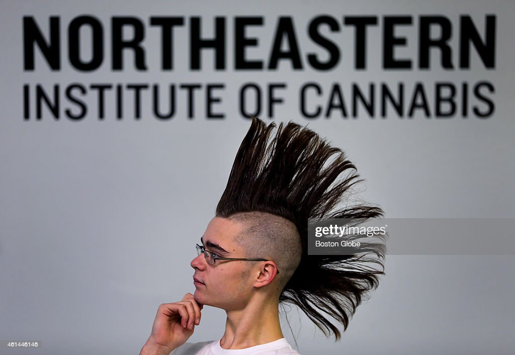 The Northeastern Institute of Cannabis is a new trade school that aims to train future dispensary workers and medical marijuana caregivers. Jeremiah MacKinnon, from Methuen, is a student in the class and co-founder of the Cannabis Society of Massachusetts. He listens during class.