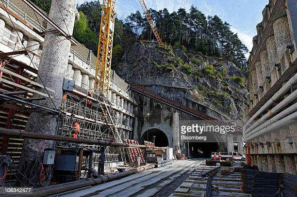 The northern entrance to the Gotthard railway tunnel is seen in Erstfeld Switzerland on Wednesday Oct 27 2010 When completed the tunnel will be the...
