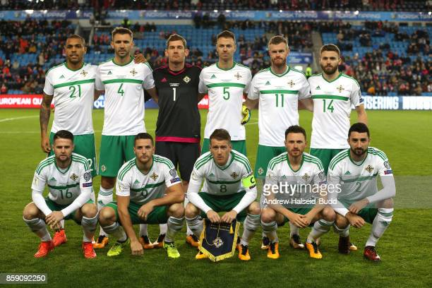 The Northern Ireland team line up for a photograph before the FIFA 2018 World Cup Qualifier between Norway and Northern Ireland at Ullevaal Stadion...