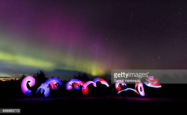 The Northern Lights and light paintings