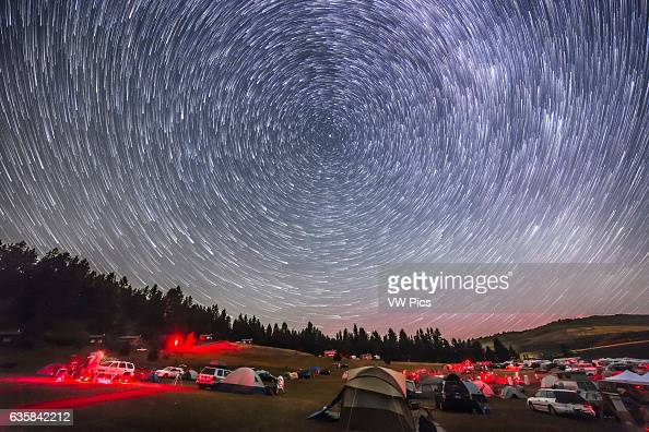 The northern stars turn around Polaris and the North Celestial Pole in a composite of 400 images taken for a timelapse and stacked here using...