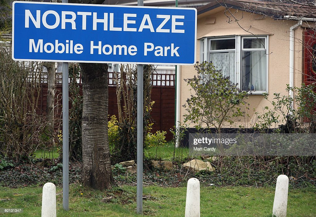 The Northleaze Mobile Home Park Sign Welcomes Visitors On A Site March 4