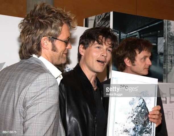 The Norwegian band aha attend a photocall at the Norwegian ambessy on June 11 2009 in Berlin Germany