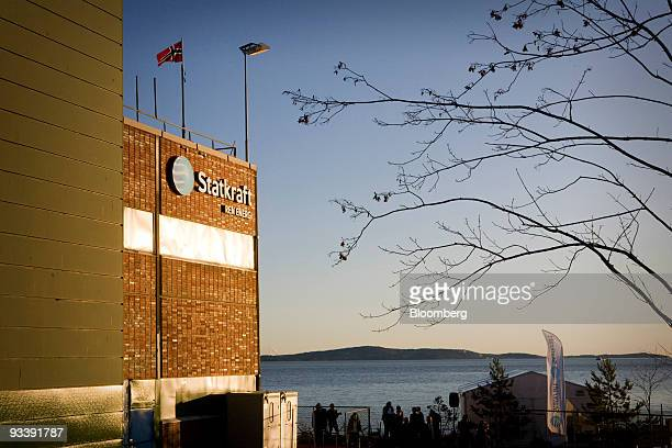 The Norwegian flag flies atop Statkfraft's prototype of the world's first osmotic power station in Tofte Norway on Tuesday Nov 24 2009 Statkraft SF...