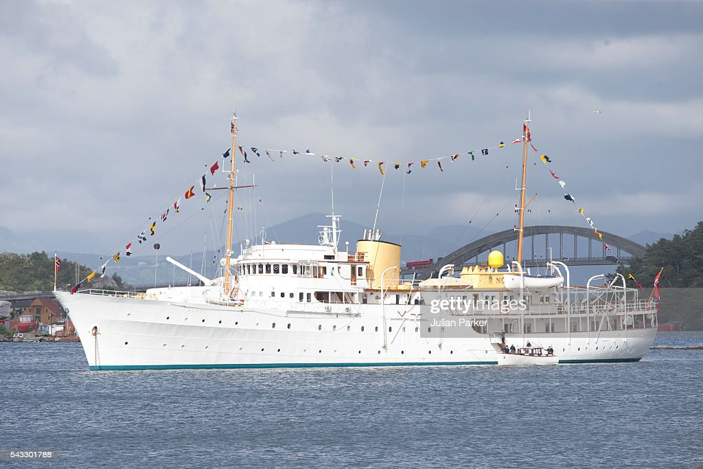 The Norwegian Royal Yacht, KS Norge, on a visit to Stavanger, during the King and Queen of Norway's Silver Jubilee Tour, on June 27, 2016 in Stavanger, Norway.