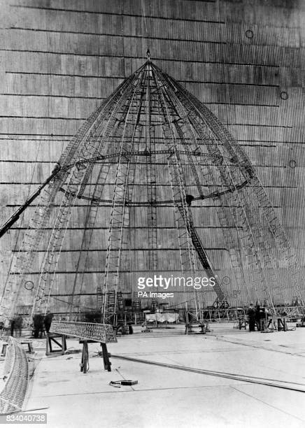 The nose piece of the R101 under construction at the Royal Airship Works at Cardington in Bedfordshire The R101 Airship was a British airship that...