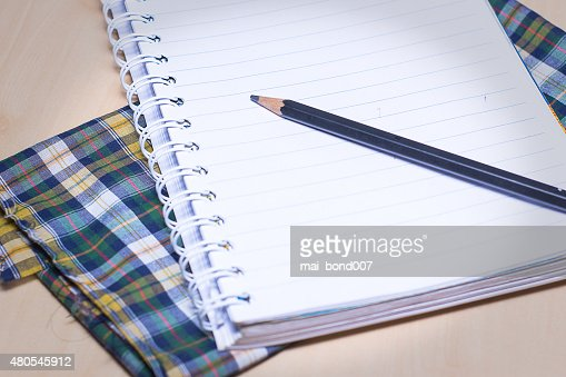 De la página notebook para escritura : Foto de stock