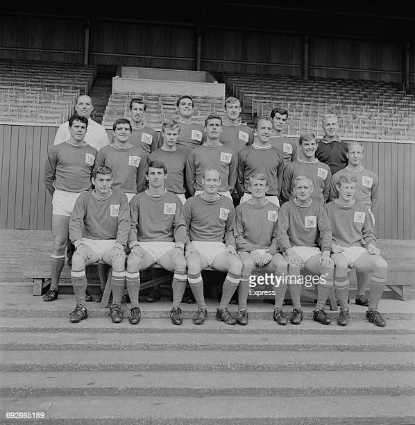 The Nottingham Forest FC football team UK 20th August 1966 They are John Barnwell Terry Hennessey Colin Addison Chris Crowe Alan Hinton Ian...