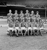The Nottingham Forest FC team UK 28th July 1971 From left to right John Winfield Paul Richardson Neil Martin John Cottam Liam O'Kane Duncan McKenzie...