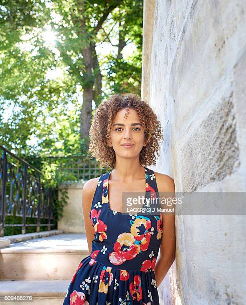 The novelist Leila Slimani poses for Paris Match on august 25 2016 in Paris France