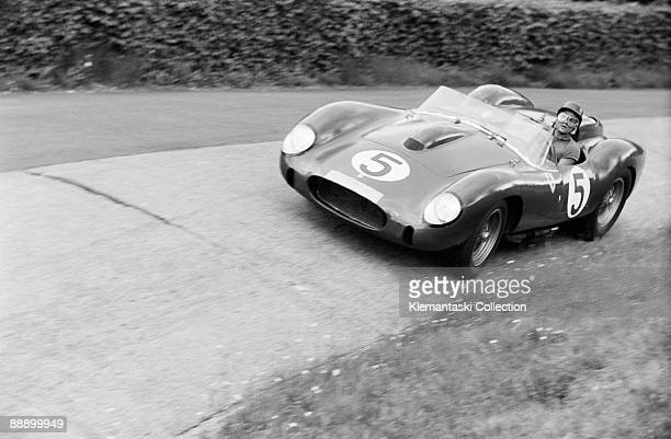 The Nürburgring 1000 km Race Nürburgring June 1 1958 Phil Hill at work in the Karussel �ditch' with the Ferrari 250TR which he shared with Luigi...