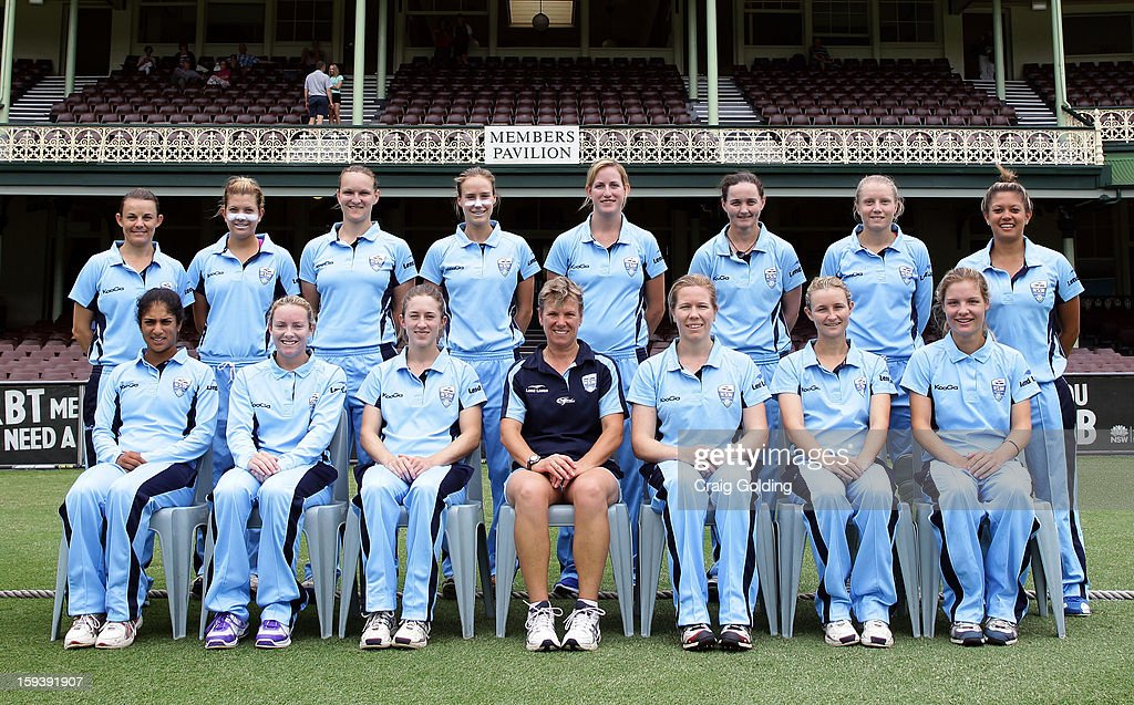The NSW Breakers pose for a team photo in front of the members stand before the start of the WNCL Final match between the NSW Breakers and the Queensland Fire at the Sydney Cricket Ground on January 13, 2013 in Sydney, Australia.