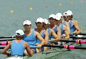 The NSW mens eight rowing team during the final at Sydney International Regatta Centre during the Australian Youth Olympic Festival January 22 Sydney...