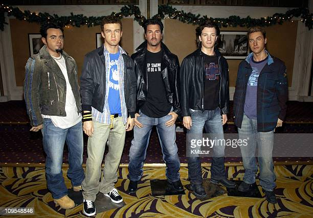 The *NSYNC wax figures at Madame Tussaud's during *NSYNC Attend Unveiling of Their Wax Figures at Madame Tussaud's New York at Madame Tussaud's Wax...