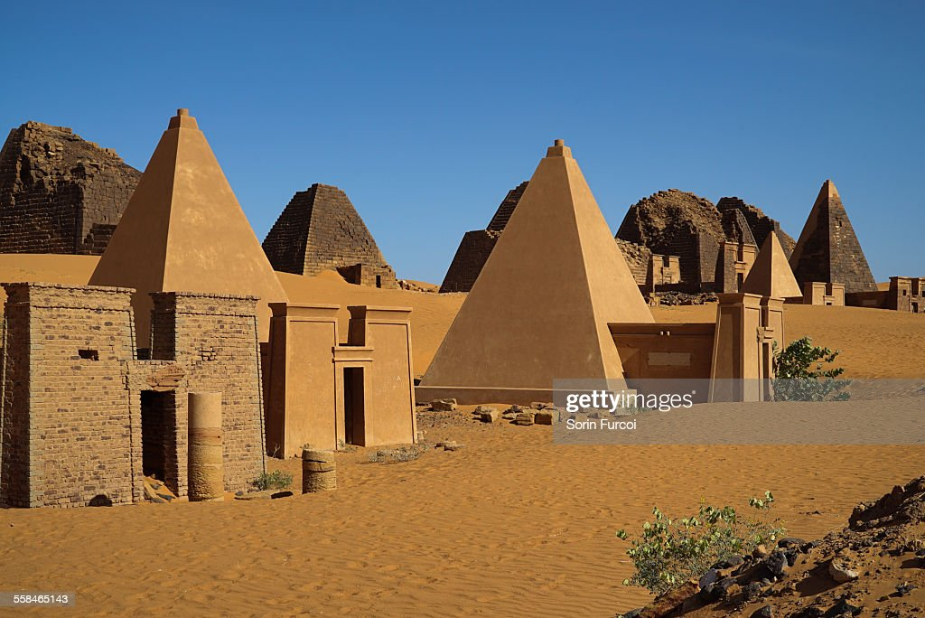 The Nubian Meroe pyramids of Sudan