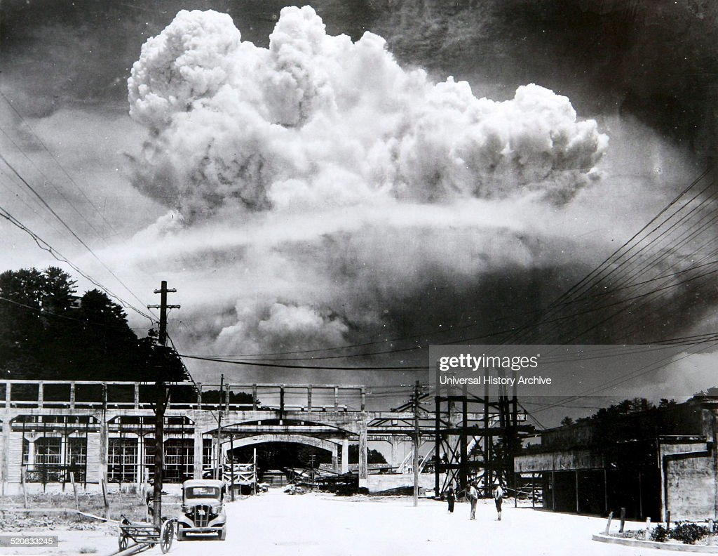 The nuclear bombing of Nagasaki Japan 9th August 1945 during world war two