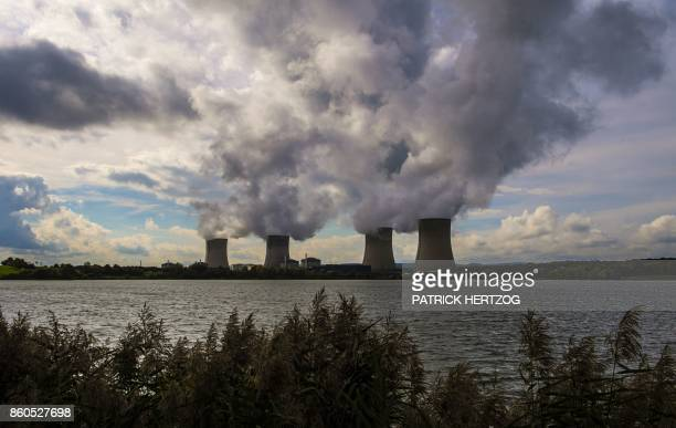 The nuclear power plant of Cattenom eastern France is pictured on October 12 2017 after Greenpeace activists broke into the facility to underline its...