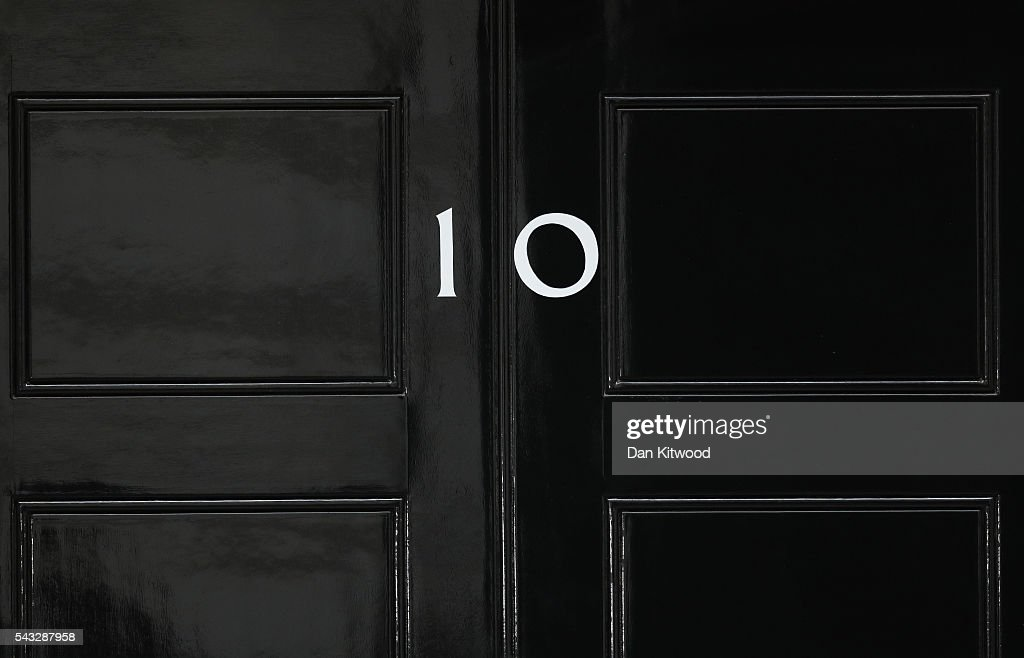 The number 10 Downing Street door is closed following a cabinet meeting on June 27, 2016 in London, England. British Prime Minister David Cameron chaired an emergency Cabinet meeting this morning, after Britain voted to leave the European Union. Chancellor George Osborne spoke at a press conference ahead of the start of financial trading and outlining how the Government will 'protect the national interest' after the UK voted to leave the EU.
