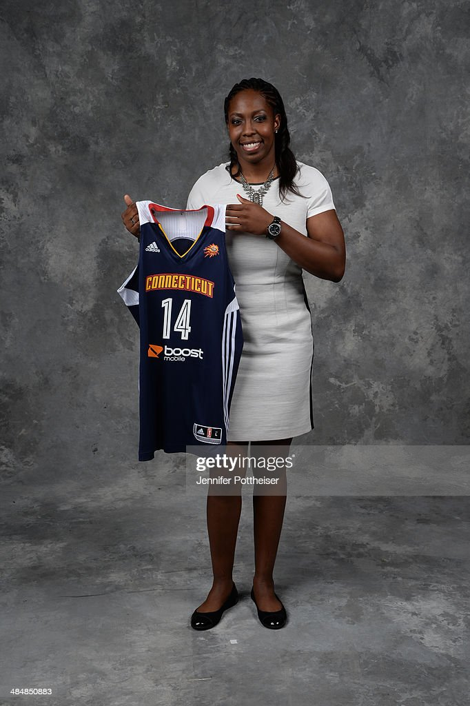The number eleven overall pick <a gi-track='captionPersonalityLinkClicked' href=/galleries/search?phrase=Chelsea+Gray&family=editorial&specificpeople=7420247 ng-click='$event.stopPropagation()'>Chelsea Gray</a> of the Connecticut Sun poses for a portrait during the 2014 WNBA Draft Presented By State Farm on April 14, 2014 at Mohegan Sun Arena in Uncasville, Connecticut.