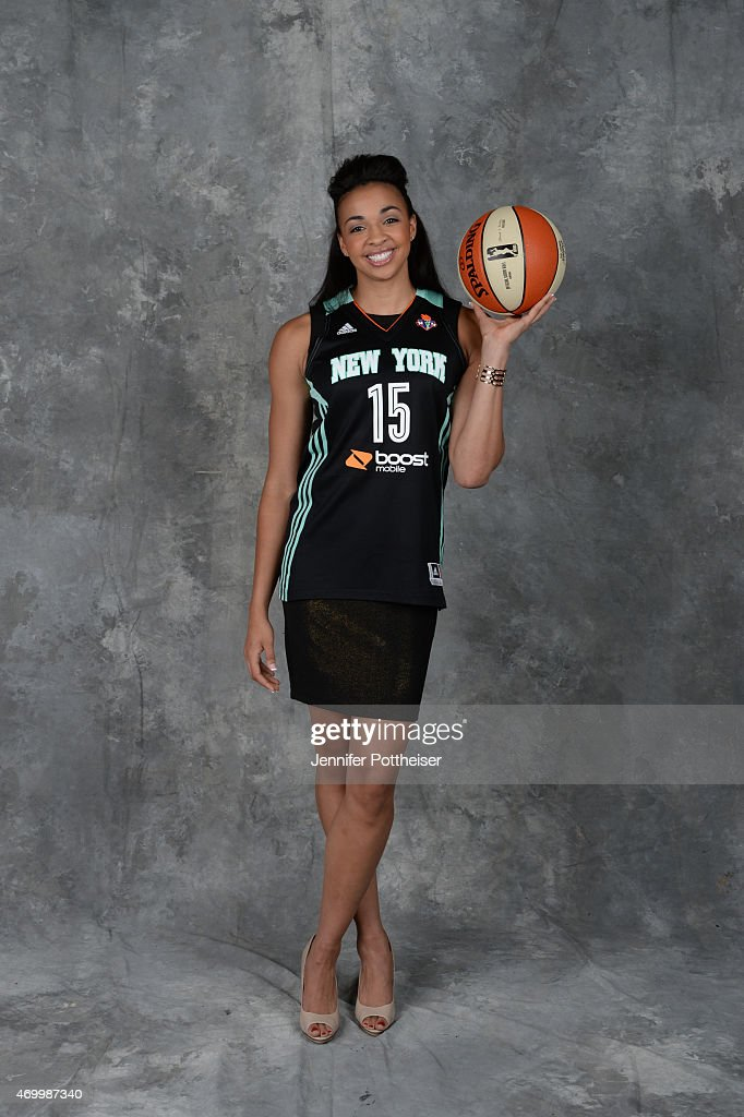 The number eleven overall pick <a gi-track='captionPersonalityLinkClicked' href=/galleries/search?phrase=Kiah+Stokes&family=editorial&specificpeople=8615620 ng-click='$event.stopPropagation()'>Kiah Stokes</a> of the New York Liberty poses for a portrait during the 2015 WNBA Draft Presented By State Farm on April 16, 2015 at Mohegan Sun Arena in Uncasville, Connecticut.