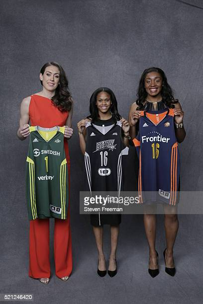 The number one overall pick of the Seattle Storm Breanna Stewart The number two overall pick of the San Antonio Silver Stars Moriah Jefferson and the...