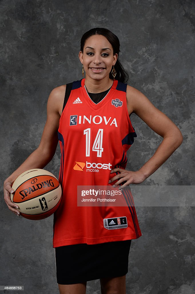The number seven overall pick <a gi-track='captionPersonalityLinkClicked' href=/galleries/search?phrase=Bria+Hartley&family=editorial&specificpeople=7334401 ng-click='$event.stopPropagation()'>Bria Hartley</a> of the Seattle Storm and later traded to the Washington Mystics poses for a portrait during the 2014 WNBA Draft Presented By State Farm on April 14, 2014 at Mohegan Sun Arena in Uncasville, Connecticut.