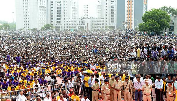 The numerically and economically strong Patel community of Gujarat converged in Ahmedabad in large numbers to take part in the rally which brought...
