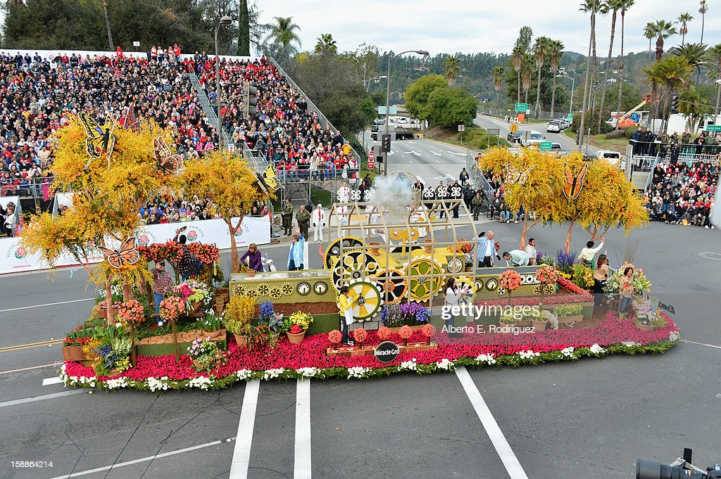 The Nurses' Float participates in the 124th Tournamernt of Roses Parade on January 1, 2013 in Pasadena, California.