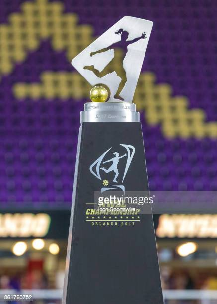 The NWSL Championship Trophy during the NWSL soccer Championship match between the North Carolina Courage and Portland Thorns on October 14th 2017 at...