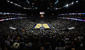 The O2 Arena is a complete sell out for the NBA match between New York Knicks and Milwaukee Bucks at O2 Arena on January 15 2015 in London England...