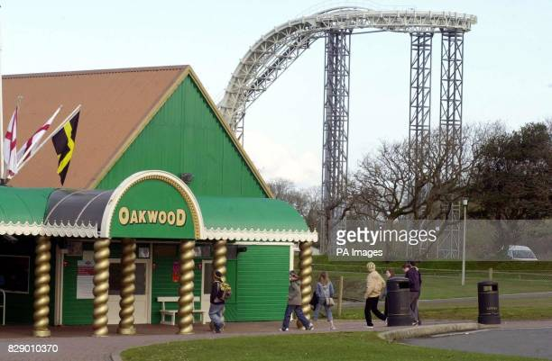 The Oakwood Leisure Park where investigations were continuing into the death of a 16yearold girl who plunged 100ft from a white knuckle ride at the...