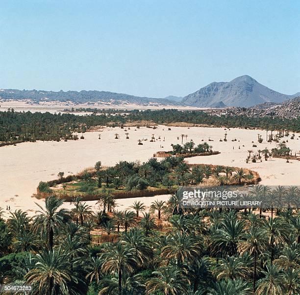 The oasis city of Djanet Sahara Desert Algeria