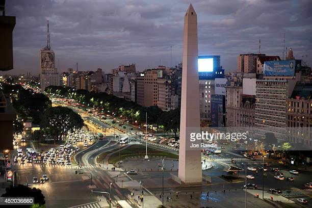 The Obelisco de Buenos Aires is seen on July 11 2014 in Buenos Aires Argentina Argentina a twotime World Cup winner will face Germany in the 2014...