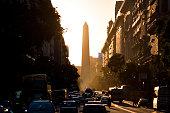 Obelisk (El Obelisco) auf dem Platz der Republik in Buenos Aires Argentinien