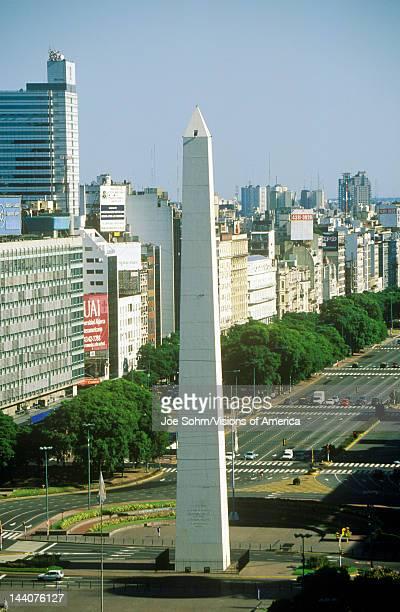 The Obelisk on Avenida 9 de Julio Buenos Aires Argentina