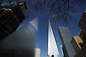 The Oculus sits under One World Trade at the partially opened World Trade Center Transportation Hub after nearly 12 years of construction on March 7...