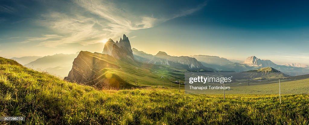 The Odle Heisler (Secede) in Val Gardena , Dolomites , Italy