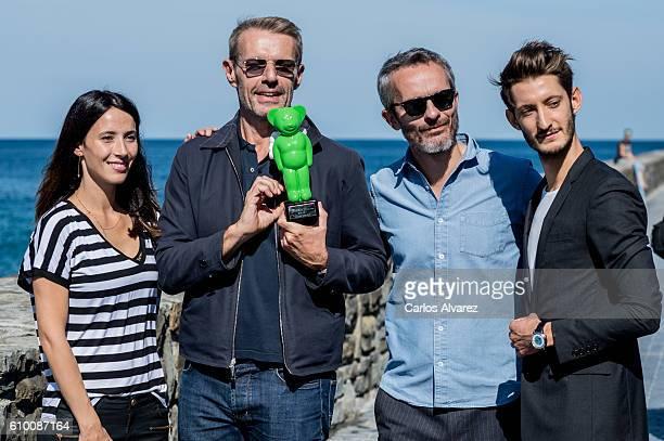The Odyssey film cast receives Greenpeace Award from Barbara Goenaga during 64th San Sebastian Film Festival on September 24 2016 in San Sebastian...